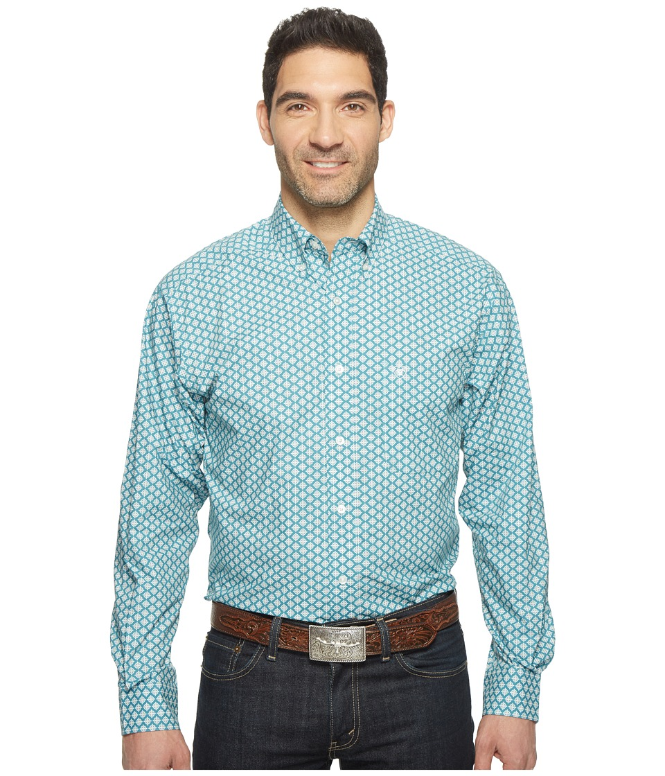 Ariat - Fallon Print Shirt (Rainwater) Men's Long Sleeve Button Up