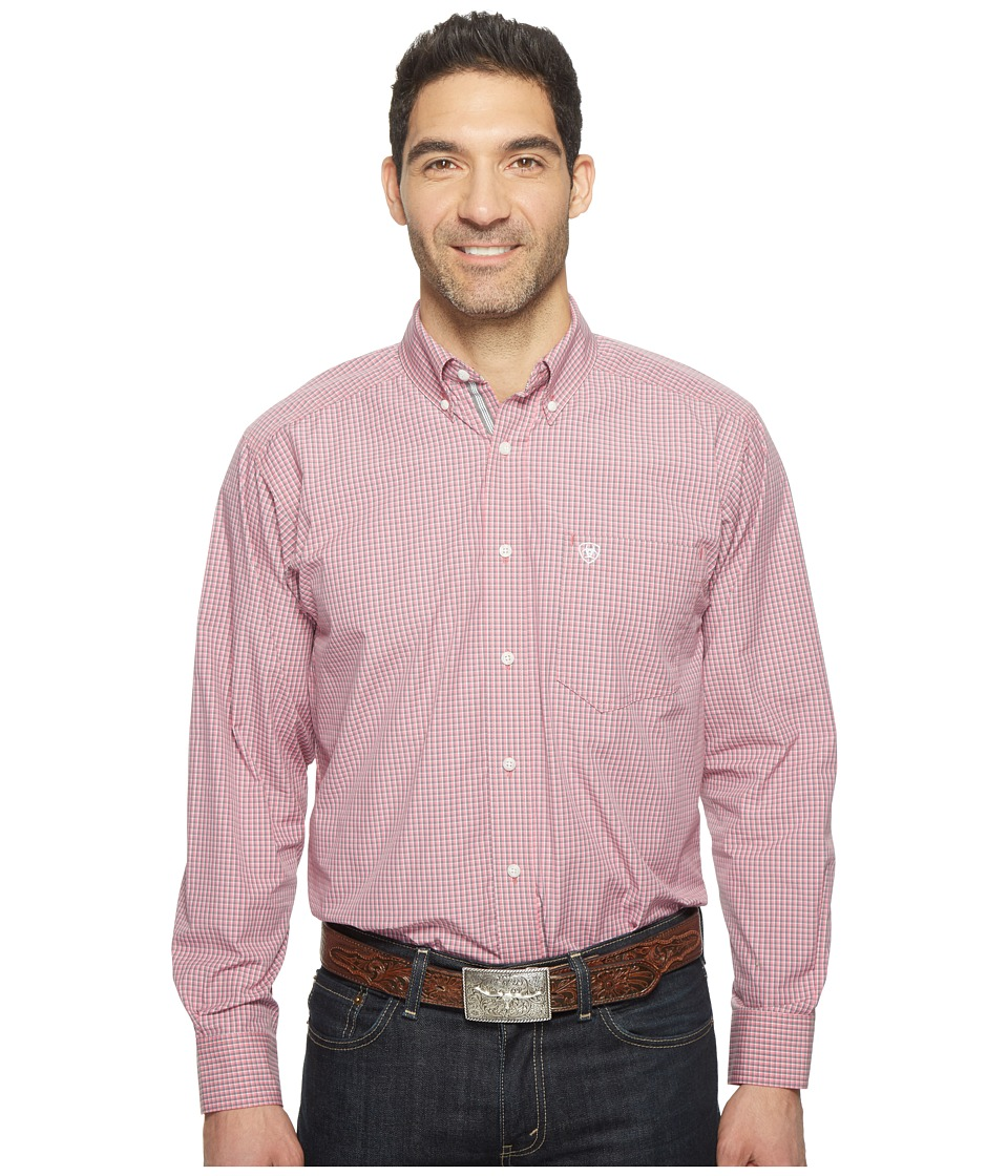Ariat - Dakota Shirt (Unbridled Rose) Men's Long Sleeve Button Up
