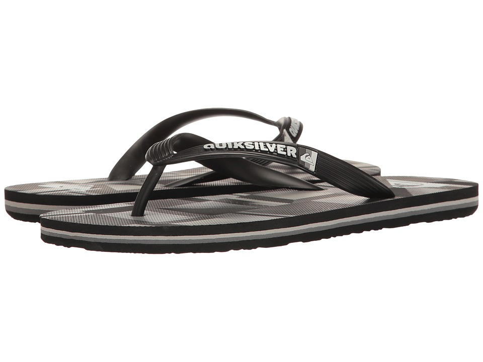 Quiksilver - Molokai Check Remix (Black/Grey/Black) Men's Sandals