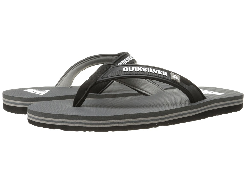 Quiksilver - Molokai Wide (Black/Grey/Grey) Men's Sandals