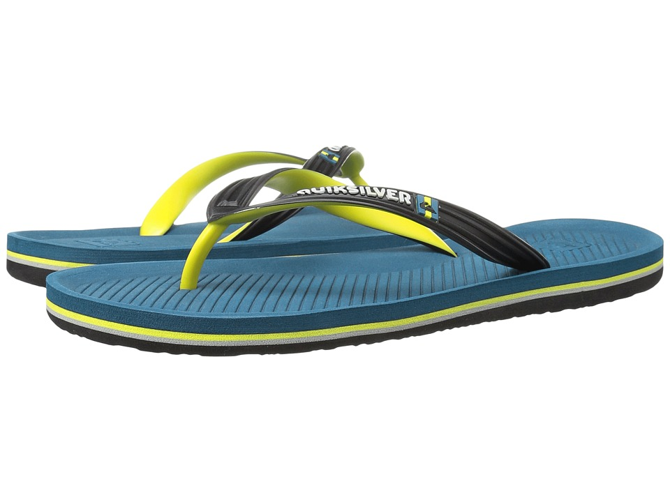 Quiksilver - Haleiwa (Black/Blue/Green) Men's Sandals