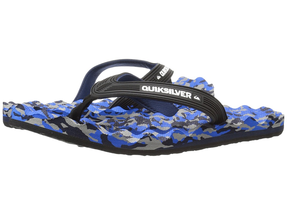 Quiksilver - Massage (Black/Blue/Black) Men's Sandals
