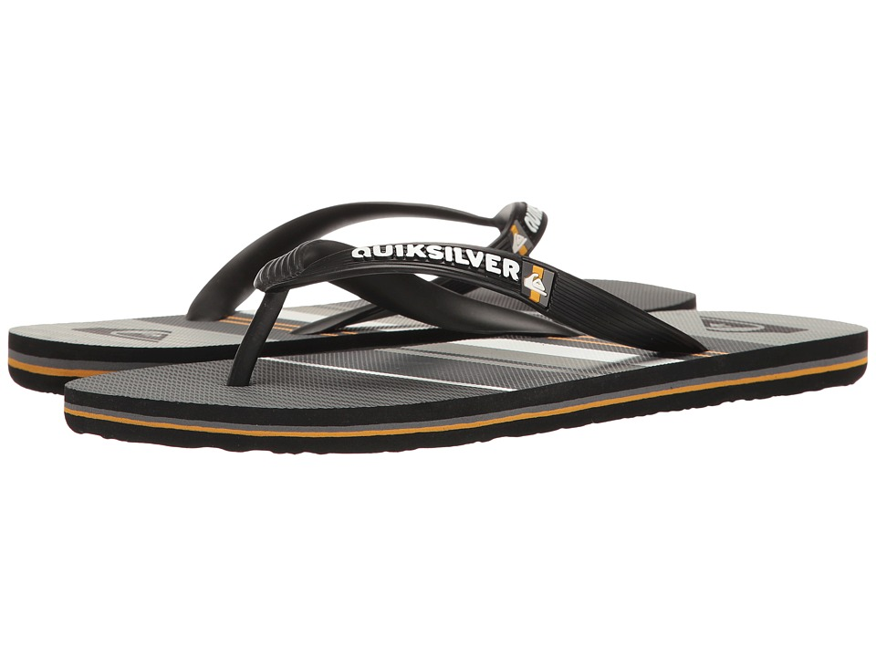 Quiksilver - Molokai Everyday Stripe (Black/Orange/Grey) Men's Sandals