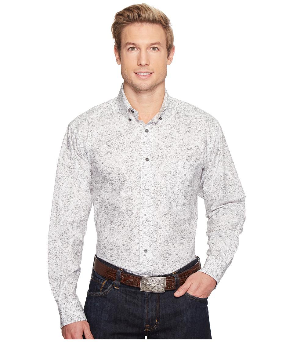 Ariat - Firman Print Shirt (Jetty Grey) Men's Long Sleeve Button Up