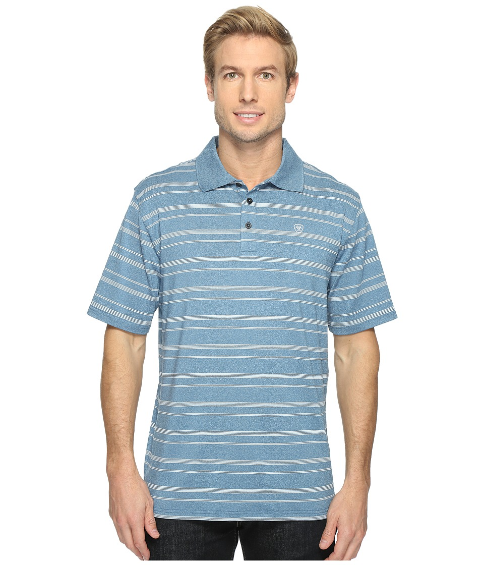 Ariat - Player Polo (Everland Teal) Men's Clothing