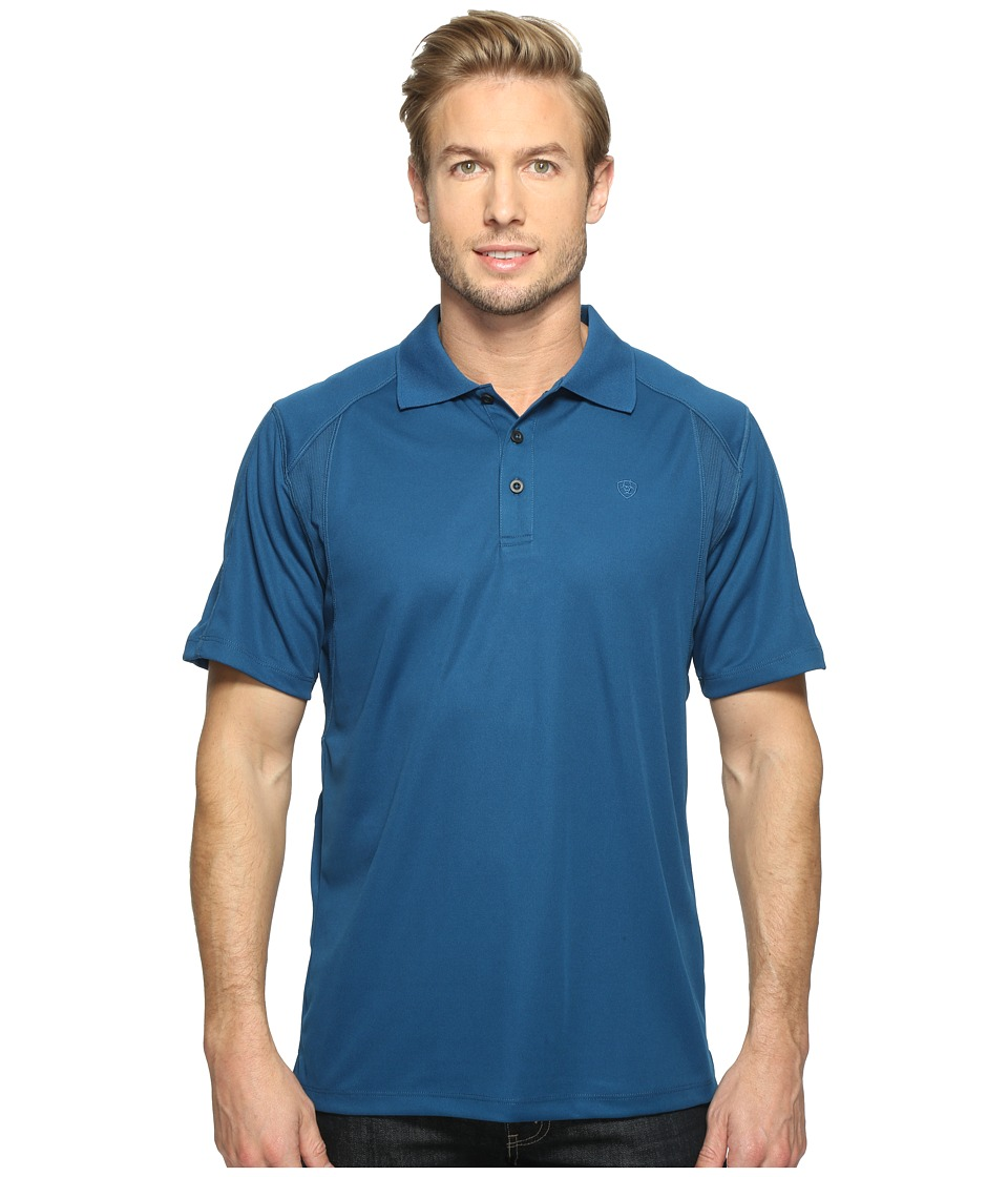 Ariat - AC Polo (Everland Teal) Men's Clothing