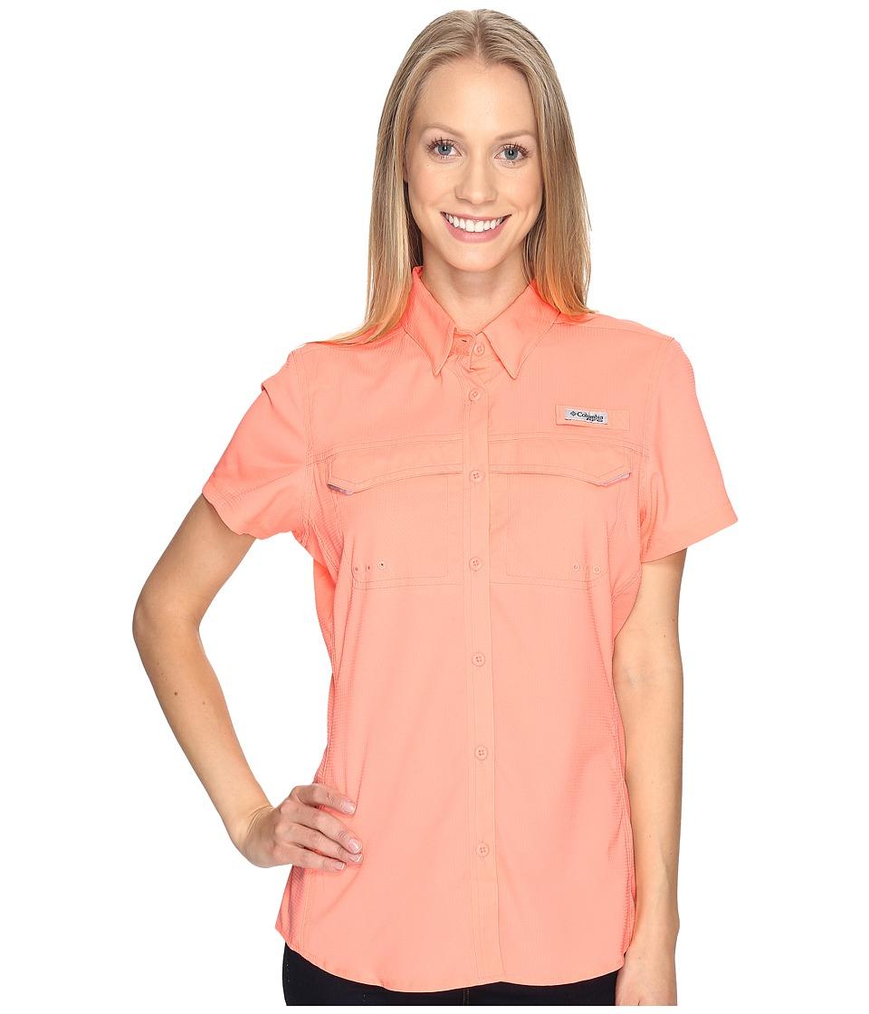 Columbia - Lo Drag Short Sleeve Shirt (Tiki Pink) Women's Short Sleeve Button Up