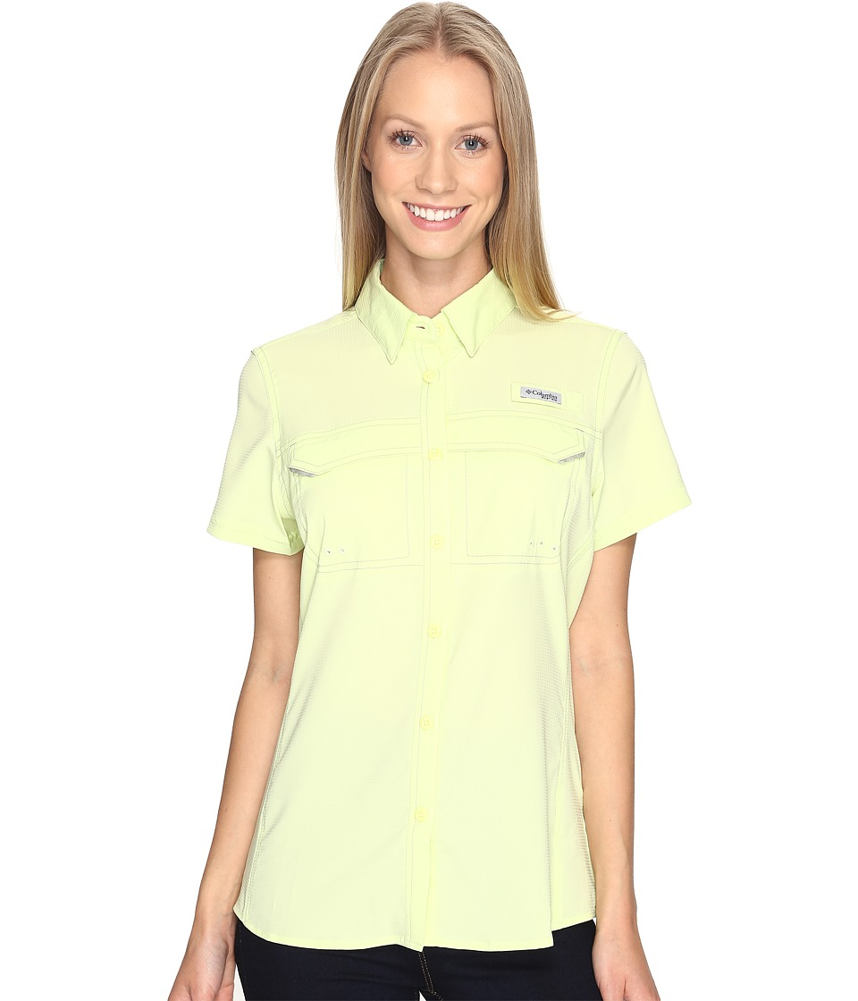 Columbia - Lo Drag Short Sleeve Shirt (Spring Yellow) Women's Short Sleeve Button Up