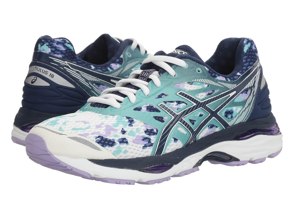 ASICS - Gel-Cumulus(r) 18 (White/Indigo Blue/Lavender) Women's Running Shoes