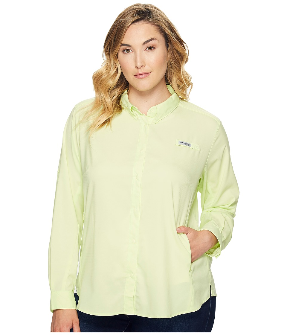 Columbia - Plus Size Tamiamitm II L/S Shirt (Spring Yellow) Women's Long Sleeve Button Up