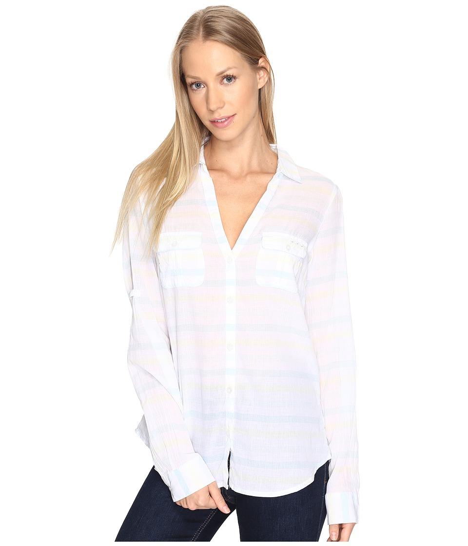 Columbia - Sun Driftertm L/S Shirt (Iceberg Stripe) Women's Long Sleeve Button Up