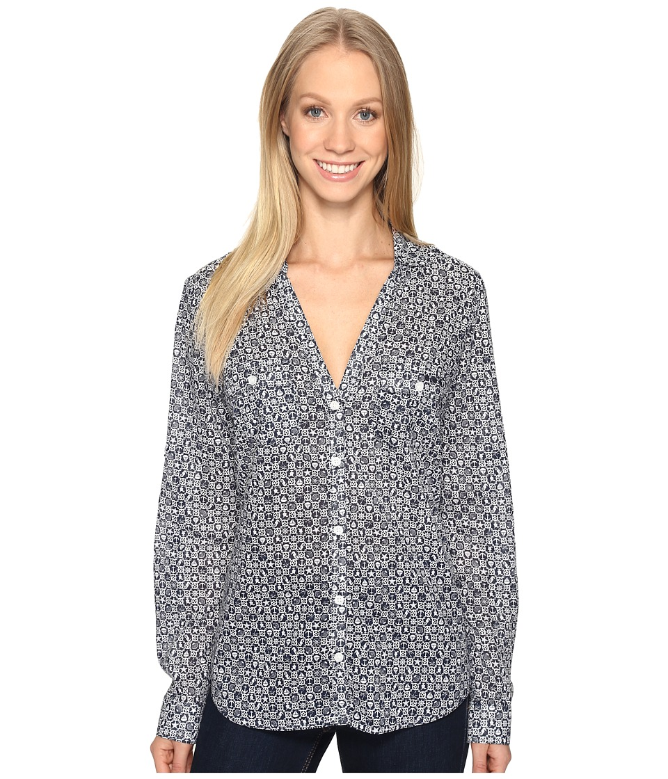 Columbia - Sun Driftertm L/S Shirt (Collegiate Navy Anchors Away) Women's Long Sleeve Button Up