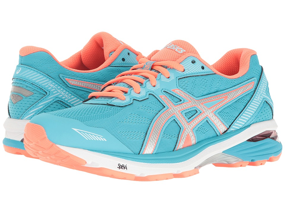 ASICS - GT-1000 5 (Aquarium/Silver/Flash Coral) Women's Running Shoes