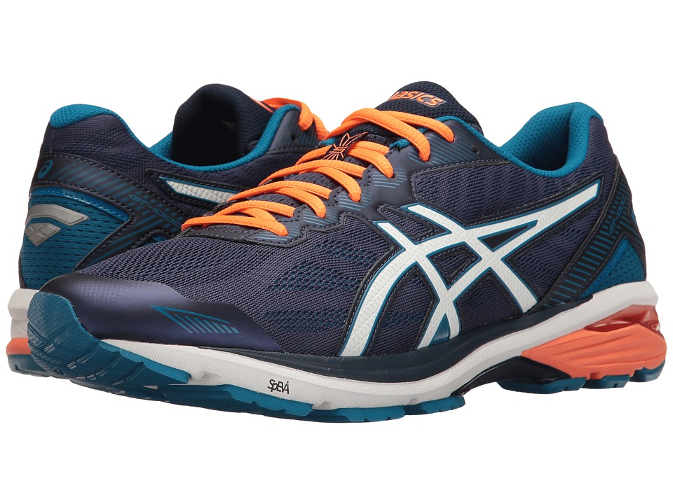 ASICS - GT-1000 5 (Indigo Blue/Snow/Hot Orange) Men's Running Shoes