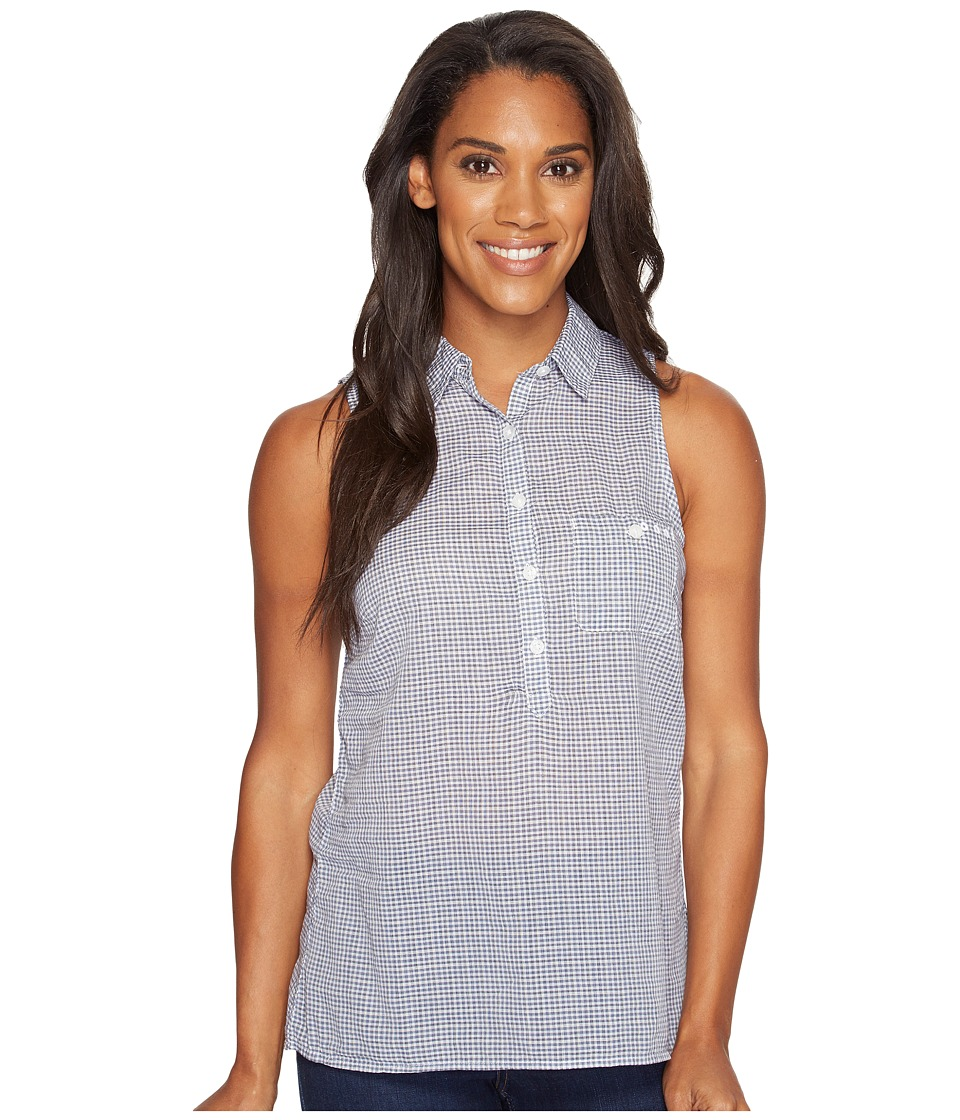 Columbia - Sun Driftertm Sleeveless Shirt (Collegiate Navy Micro Check) Women's Sleeveless