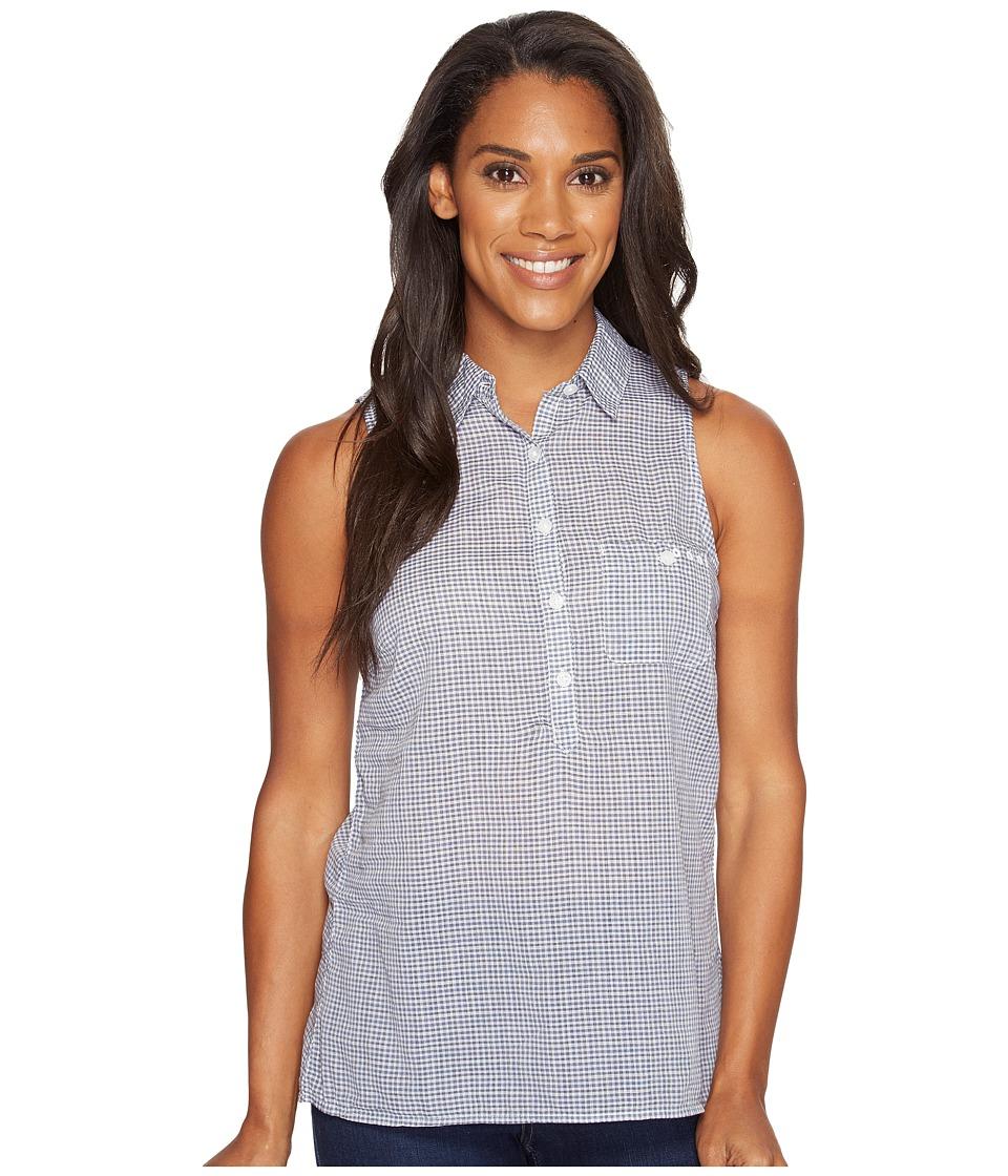 Columbia - Sun Driftertm Sleeveless Shirt (Collegiate Navy Micro Check) Women's Sleeveless