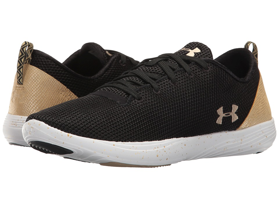 Under Armour - UA Street Precision Sport Lo Metallic (Black/White/Metallic Gold) Women's Shoes