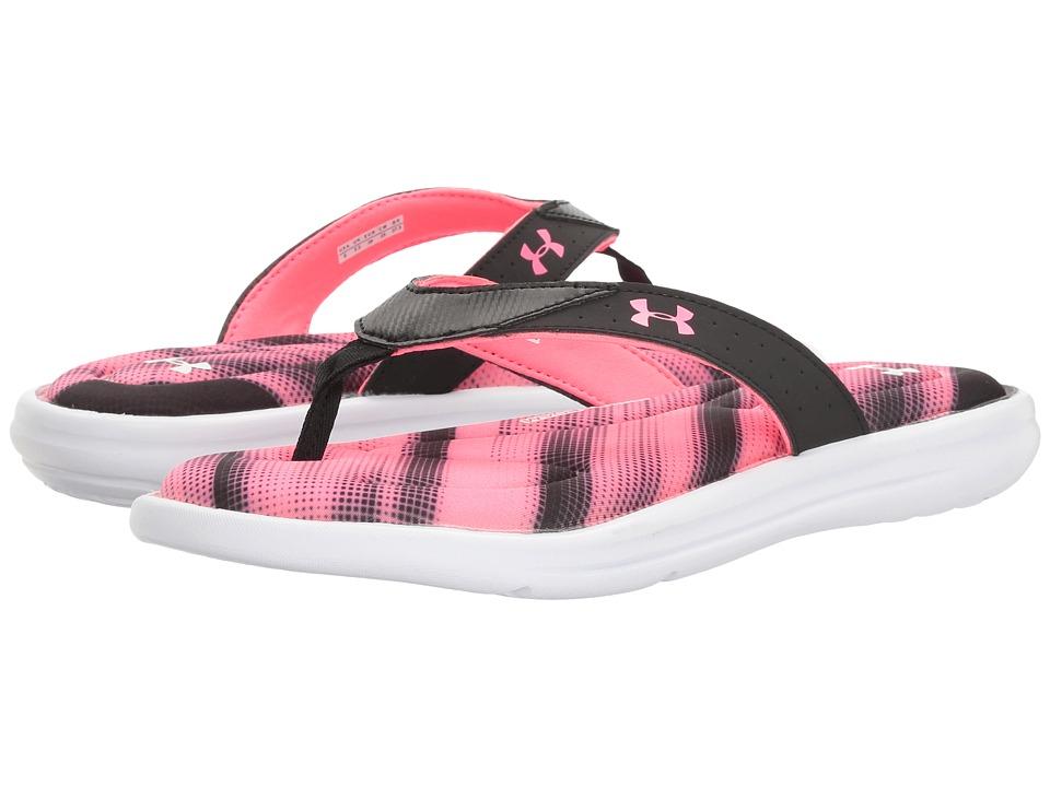 Under Armour - UA Marbella Finisher V Thong (White/Black/Cerise) Women's Shoes