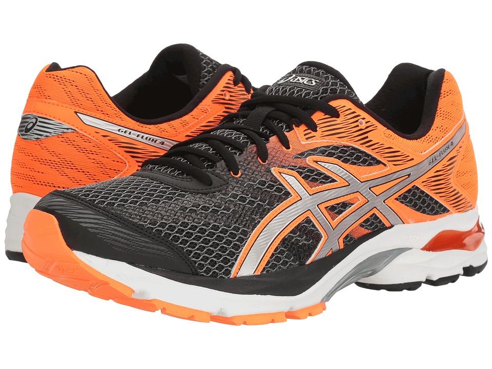 ASICS - GEL-Flux 4 (Black/Silver/Hot Orange) Men's Running Shoes