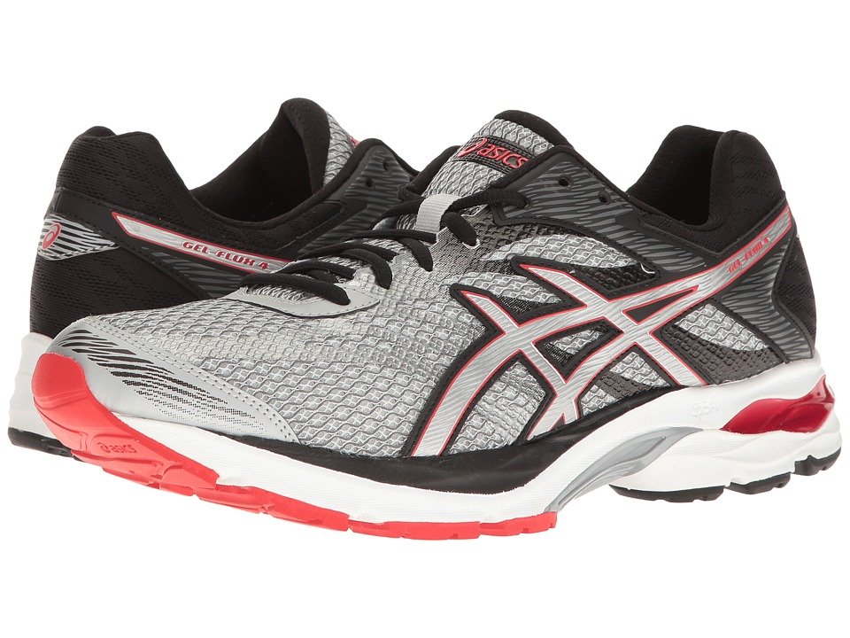 ASICS - GEL-Flux 4 (Glacier Grey/Silver/Vermillion) Men's Running Shoes