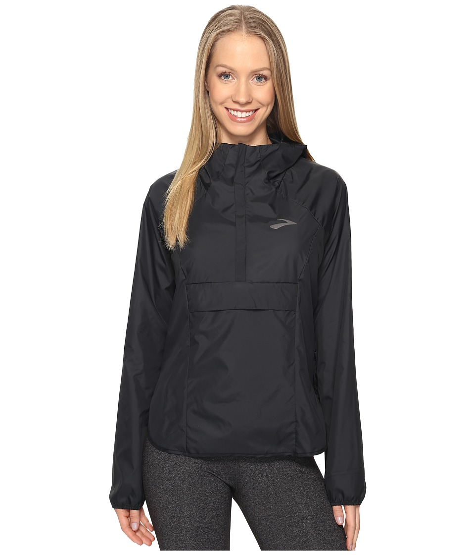 Brooks - Cascadia Shell (Black) Women's Clothing