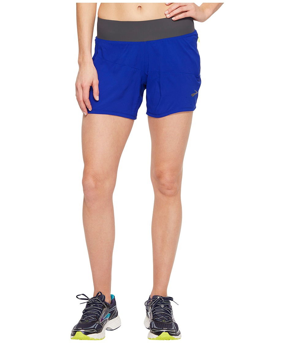 Brooks - Cascadia 5 Shorts (Cobalt) Women's Shorts