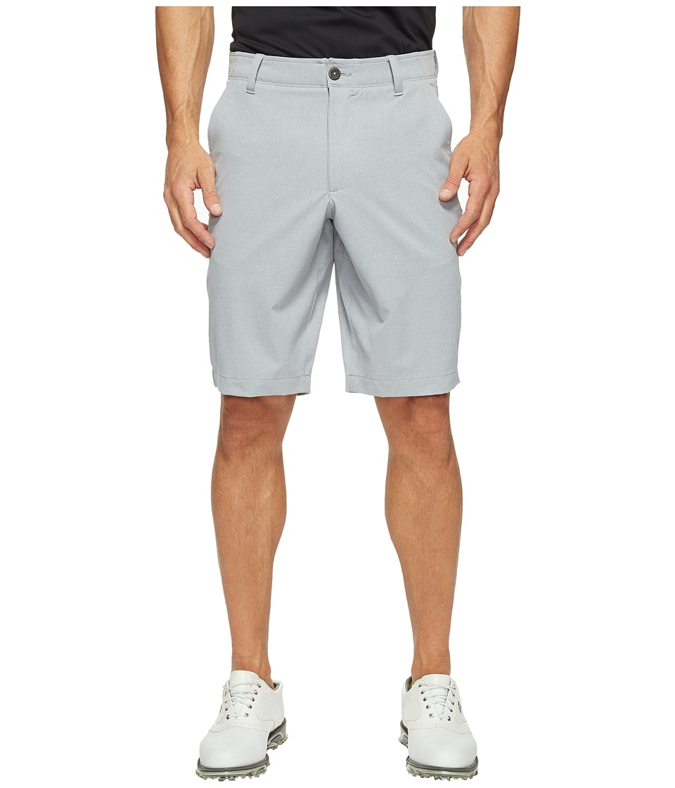 Under Armour Golf - Match Play Vented Taper Shorts (Steel/True Gray Heather/Steel) Men's Shorts