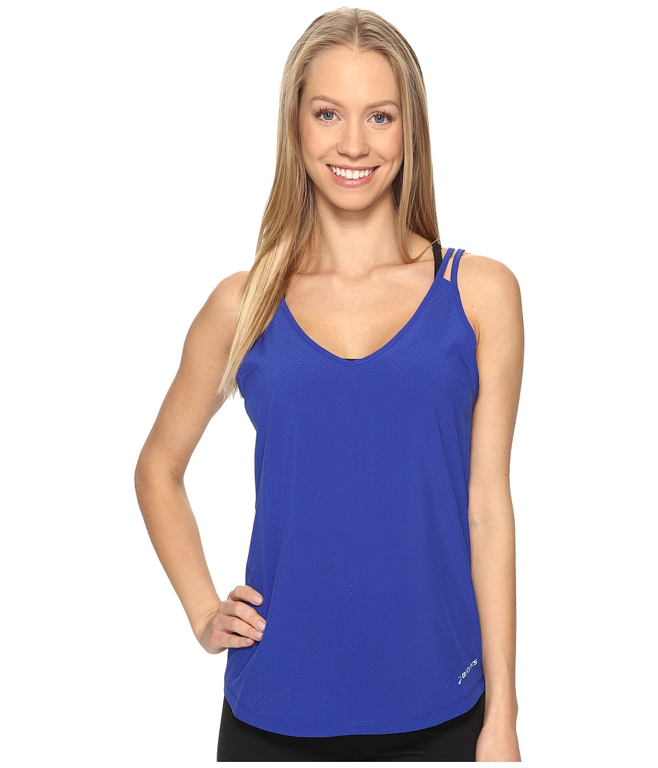 Brooks - Fremont Tank Top (Cobalt) Women's Sleeveless