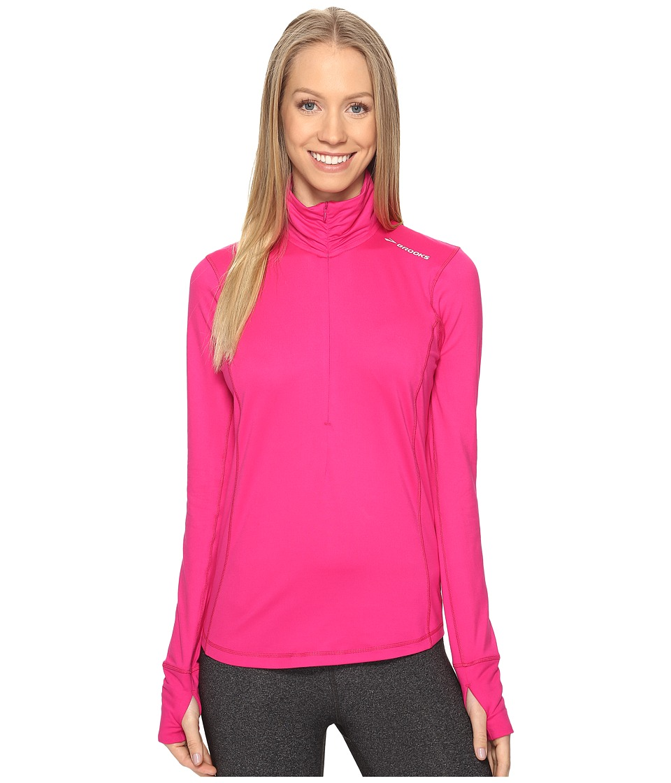 Brooks - Dash 1/2 Zip (Petal) Women's Long Sleeve Pullover