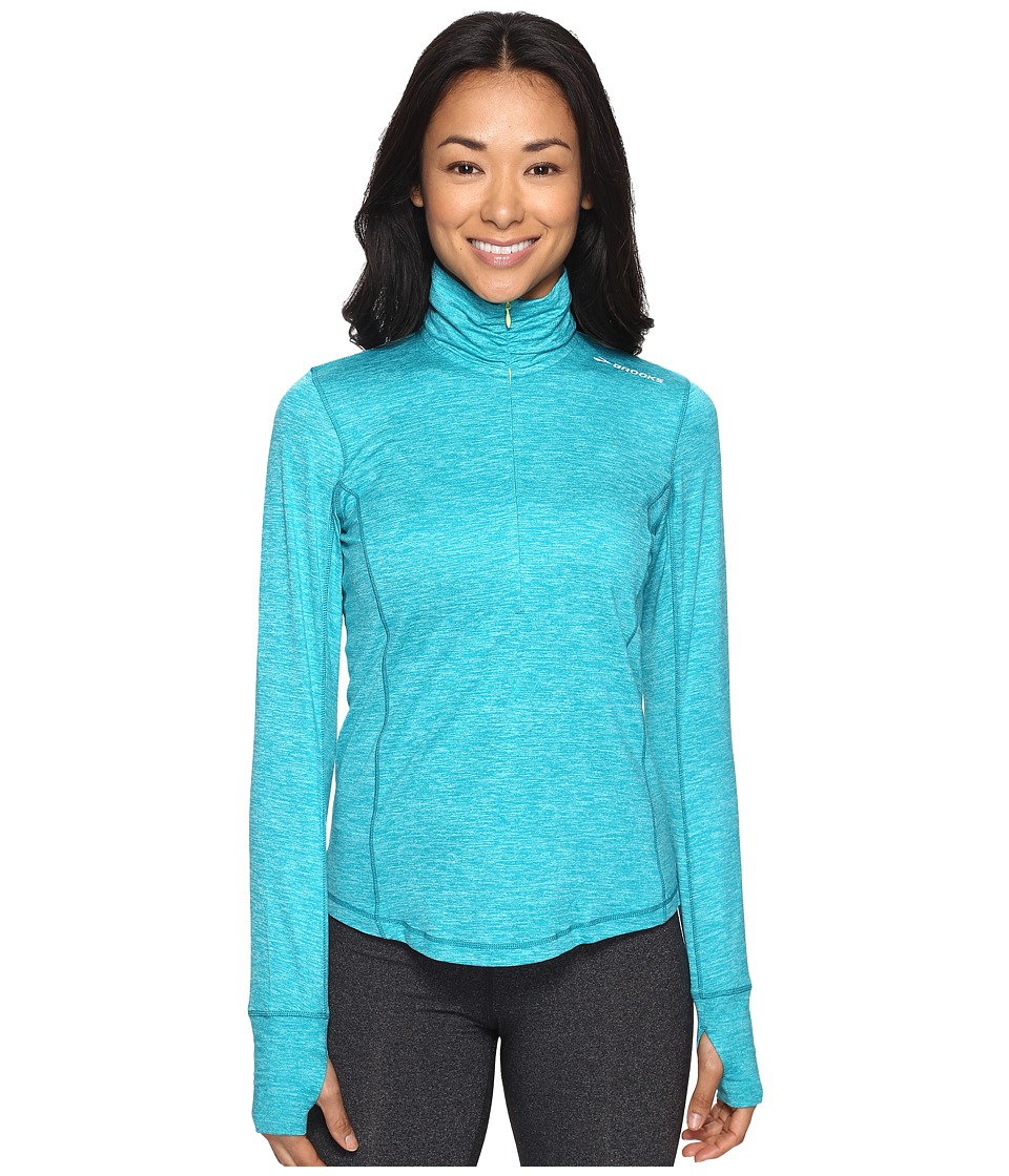 Brooks - Dash 1/2 Zip (Heather Tile) Women's Long Sleeve Pullover