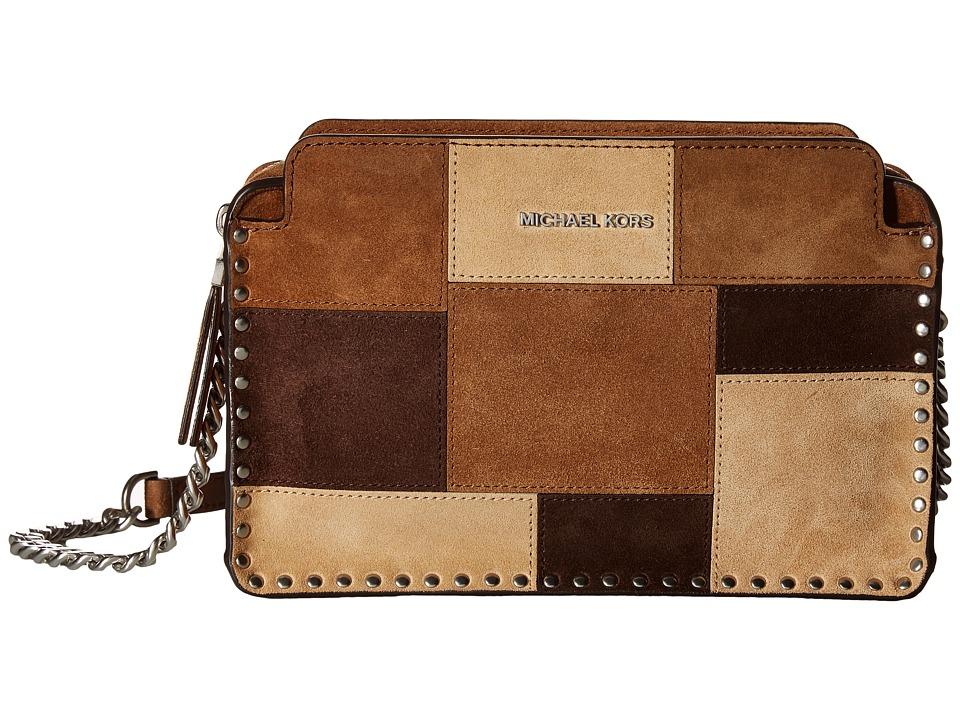 MICHAEL Michael Kors - Astor Lg Messenger (Dark Caramel) Messenger Bags