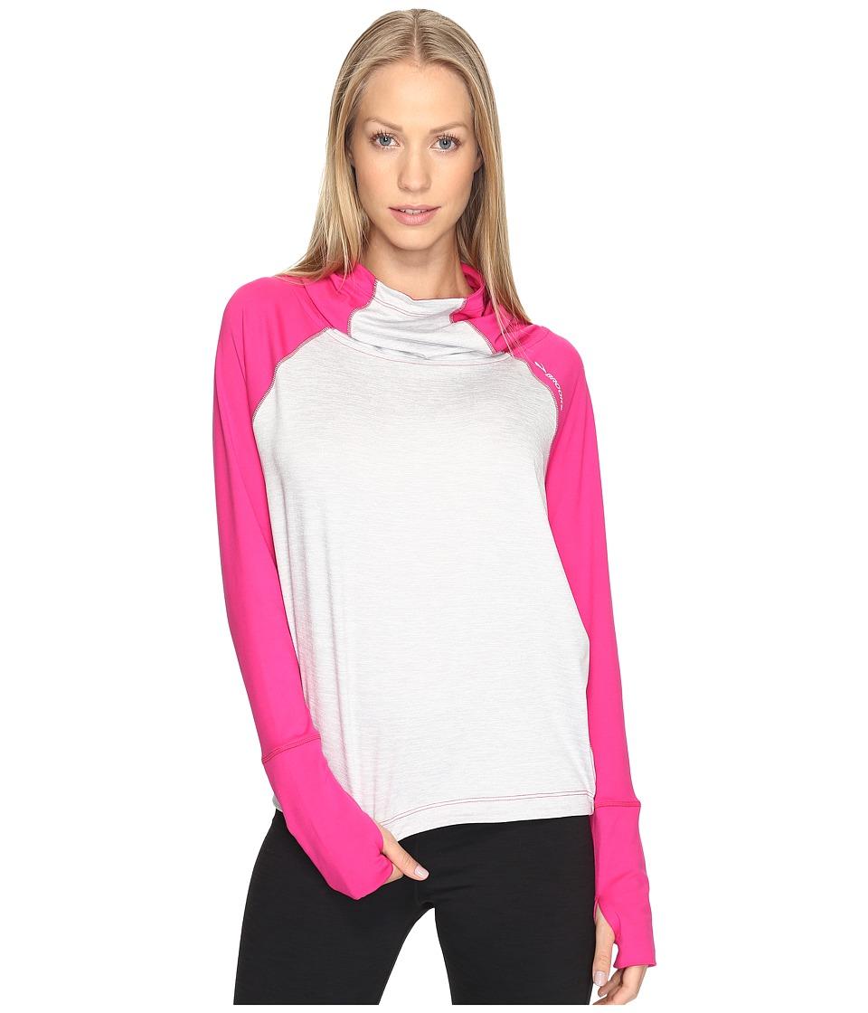 Brooks - Dash Hoodie (Petal/Sterling) Women's Sweatshirt