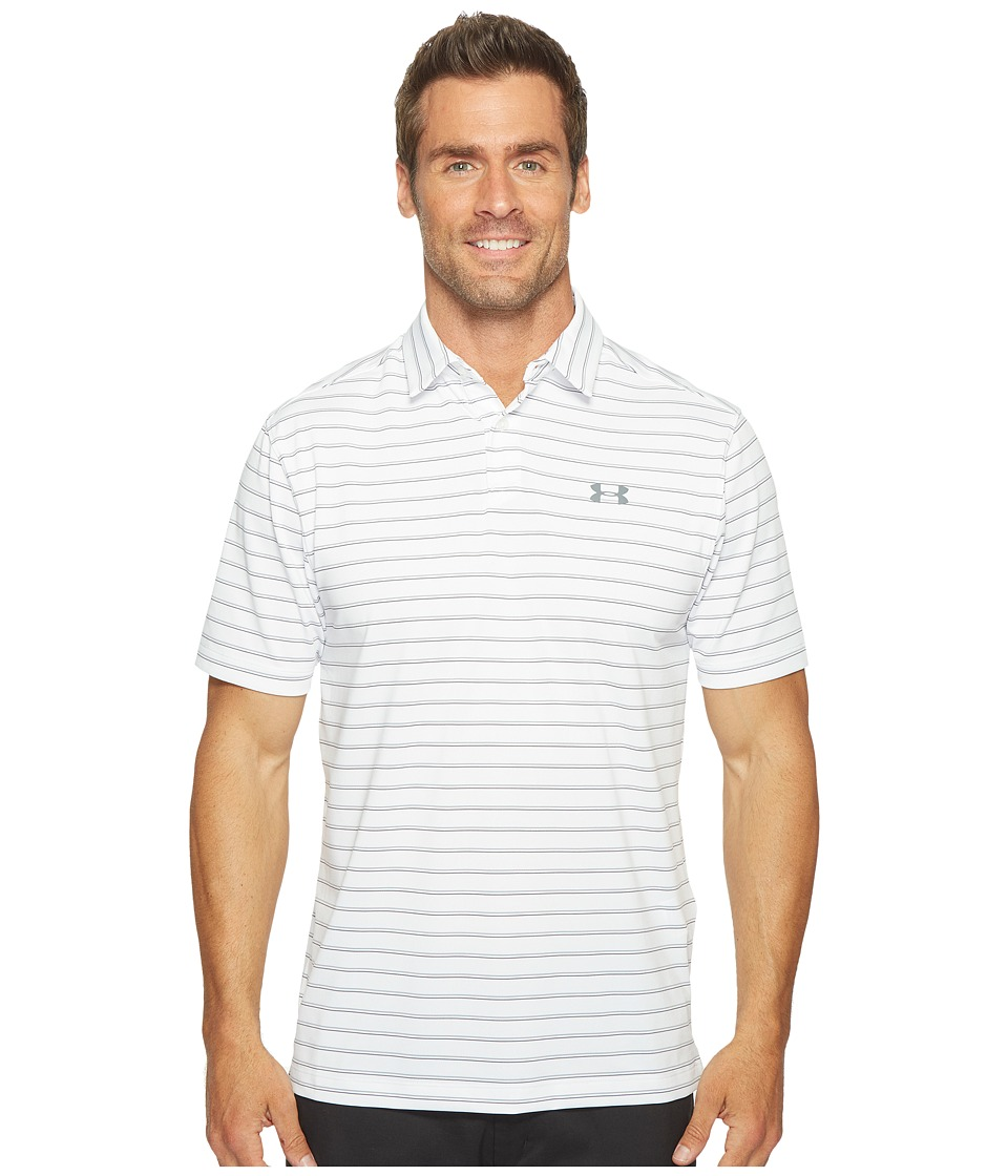 Under Armour Golf - UA CoolSwitch Putting Stripe Shirt (White/White/Graphite) Men's Clothing