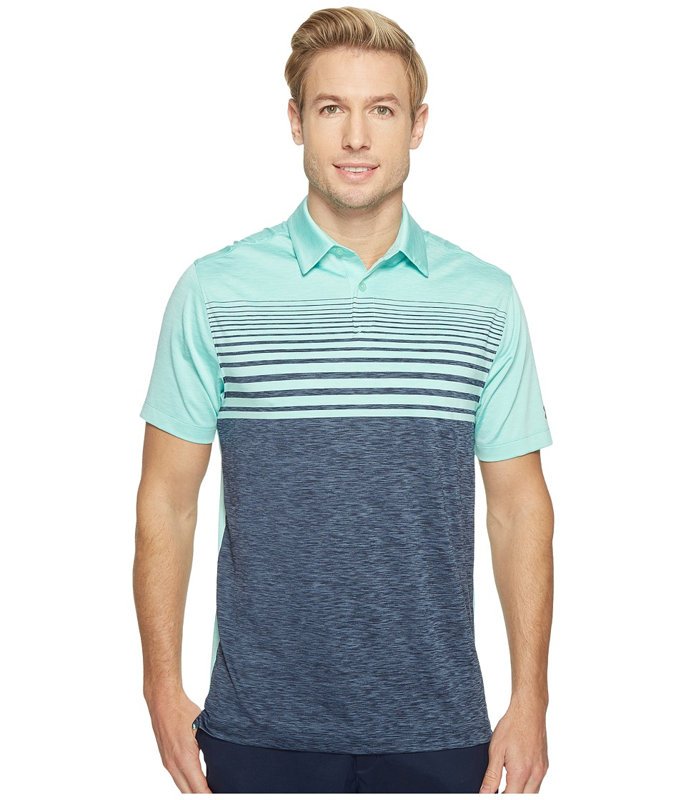 Under Armour Golf - UA CoolSwitch Upright Stripe Shirt (Mint/Academy/Graphite) Men's Clothing