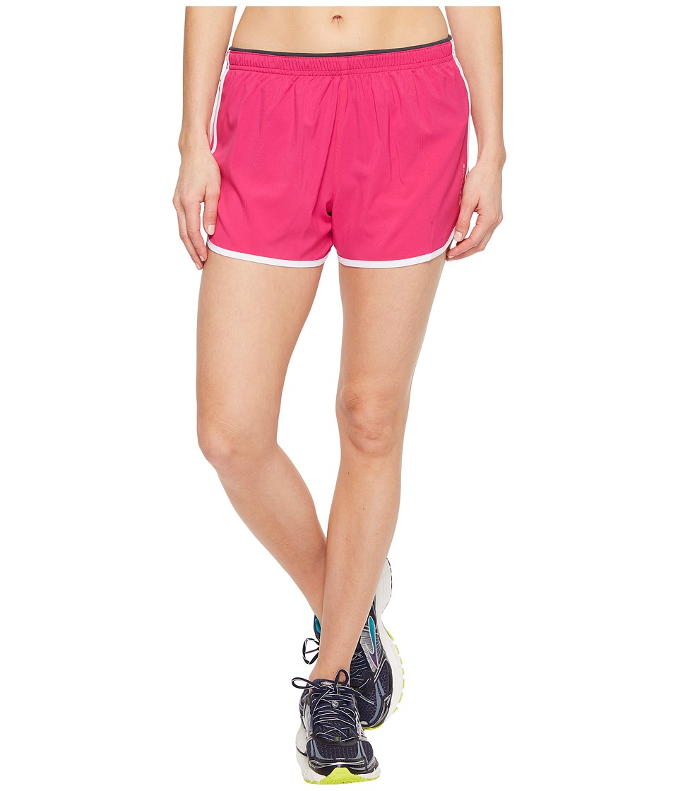 Brooks - Go-To 3 Shorts (Petal/White) Women's Shorts