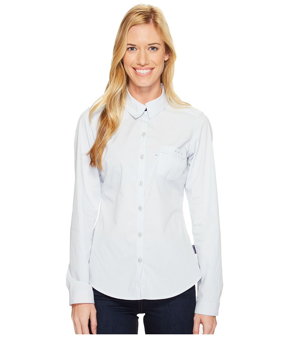 Columbia - Harborside Woven Long Sleeve Shirt (Cirrus Grey/Tiki Pink) Women's Long Sleeve Button Up