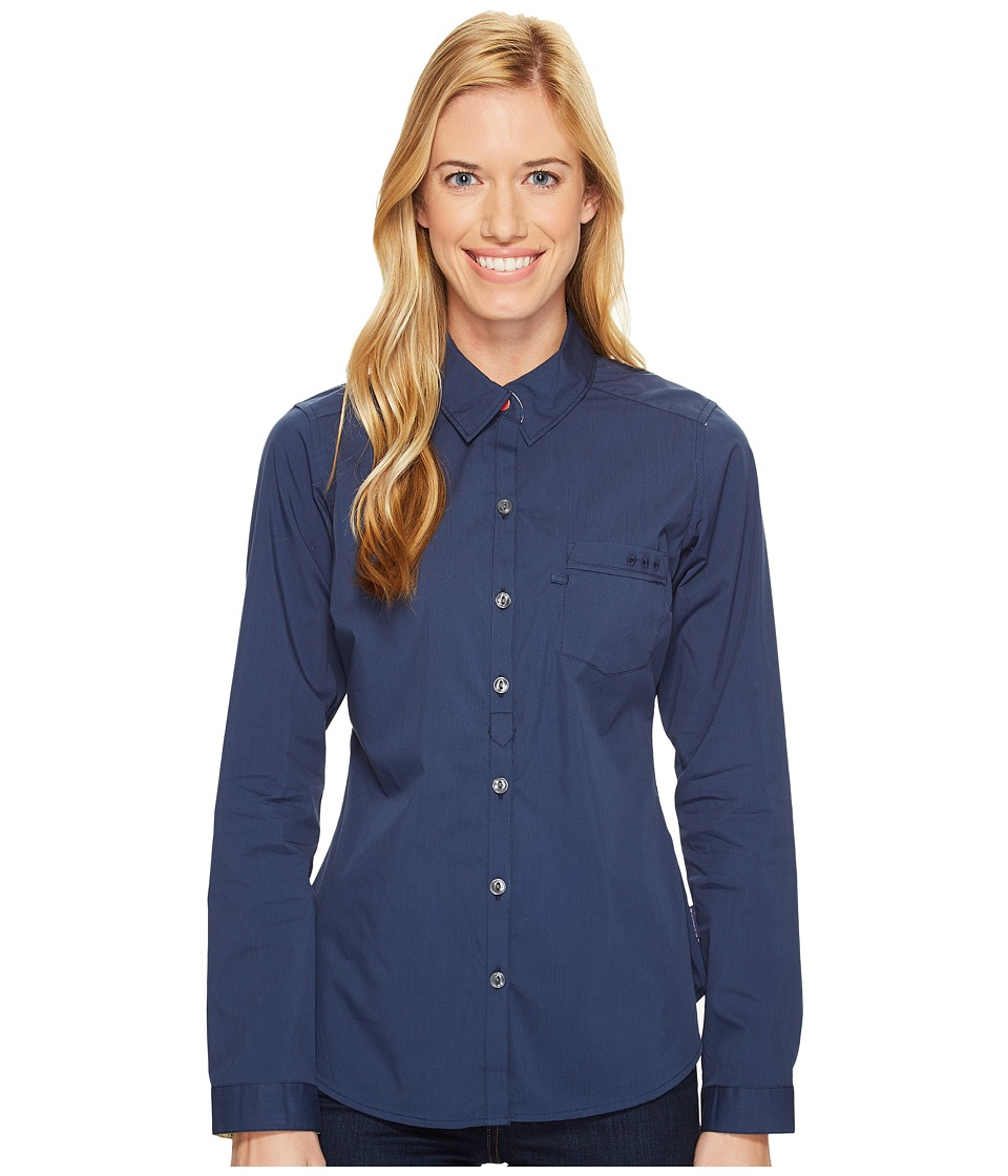 Columbia - Harborside Woven Long Sleeve Shirt (Collegiate Navy/Sunlit) Women's Long Sleeve Button Up