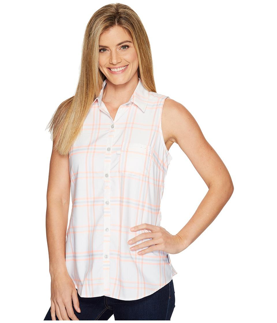 Columbia - Super Harborside Woven Sleeveless Shirt (Tiki Pink Windowpane Plaid/Cirrus Grey) Women's Sleeveless