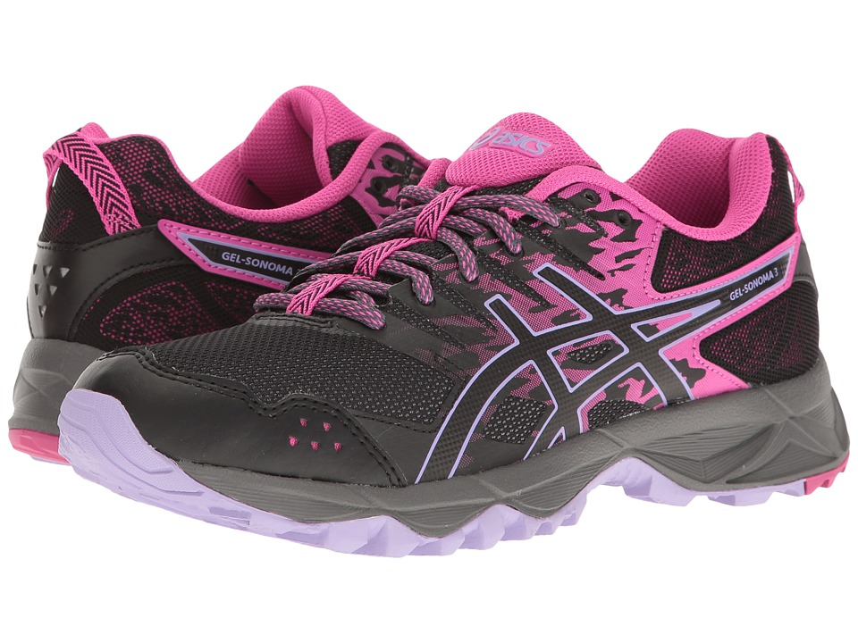 ASICS - GEL-Sonoma 3 (Pink Glow/Black/Lavender) Women's Running Shoes