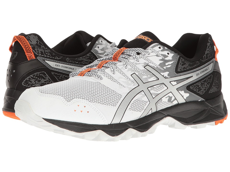 ASICS - GEL-Sonoma 3 (White/Silver/Hot Orange) Men's Running Shoes
