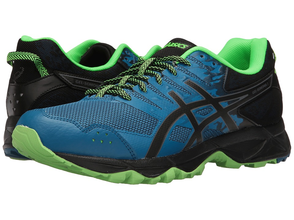 ASICS - GEL-Sonoma 3 (Thunder Blue/Black/Green Gecko) Men's Running Shoes