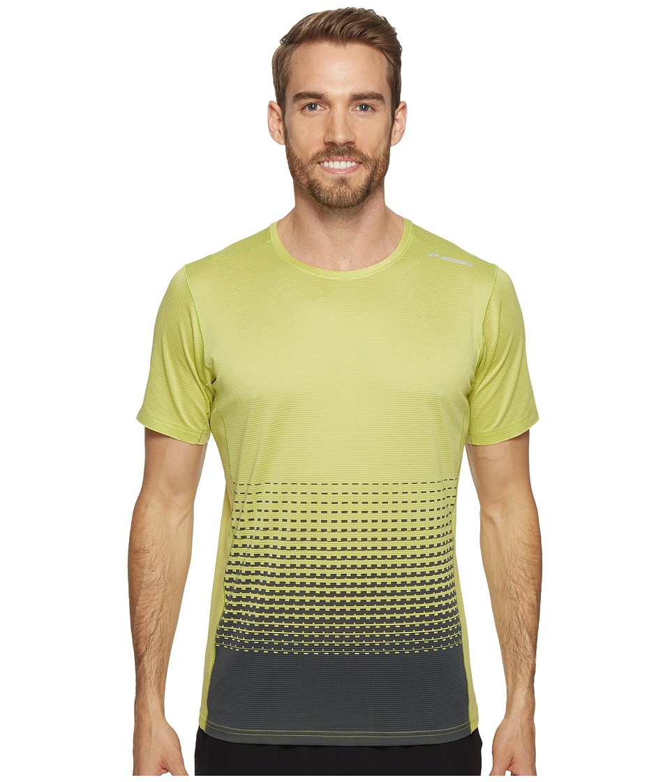 Brooks - Ghost Short Sleeve Shirt (Grove/Asphalt Verge) Men's Short Sleeve Pullover