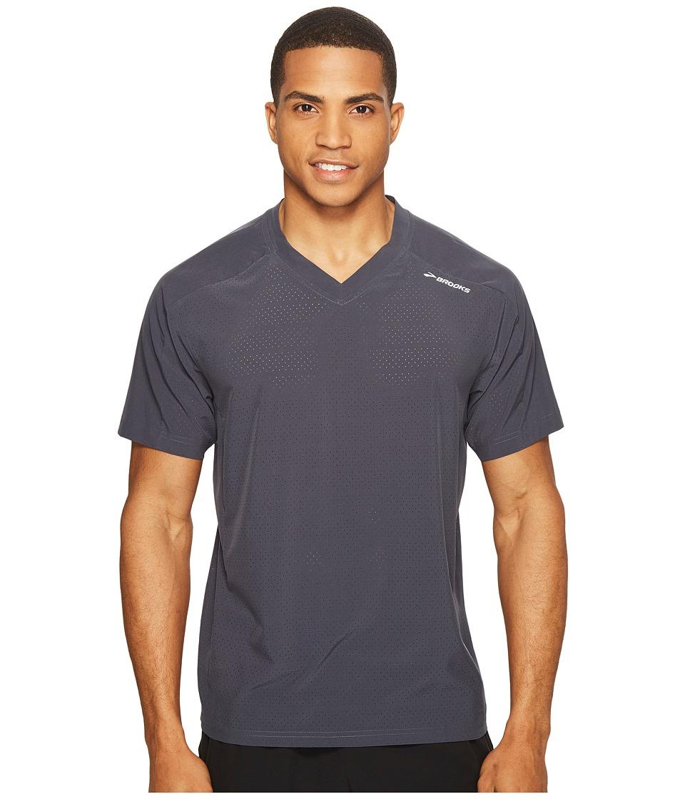 Brooks - Fremont Short Sleeve Shirt (Asphalt) Men's Short Sleeve Pullover