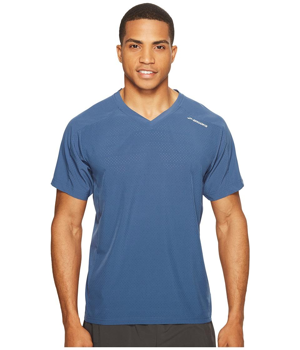 Brooks - Fremont Short Sleeve Shirt (Ink) Men's Short Sleeve Pullover