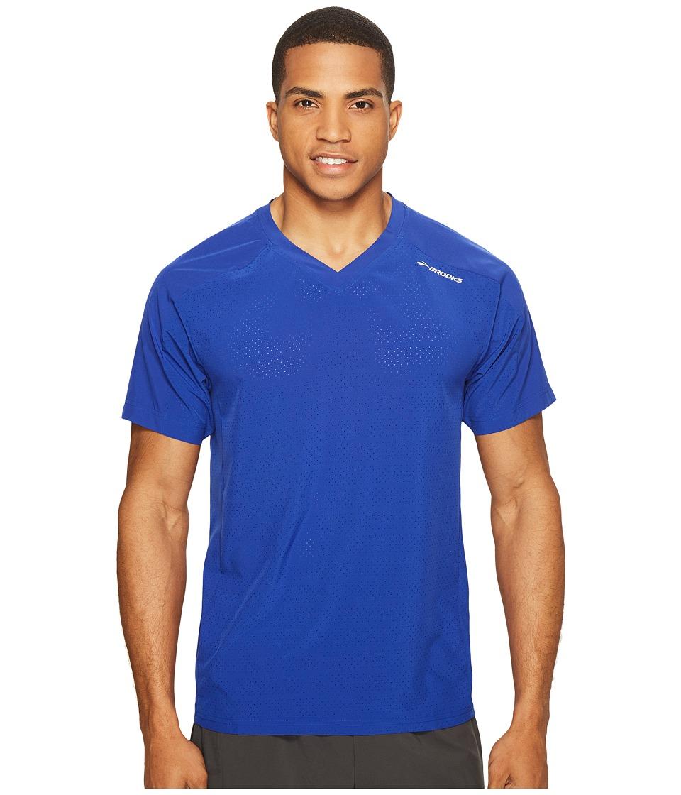 Brooks - Fremont Short Sleeve Shirt (Cobalt) Men's Short Sleeve Pullover