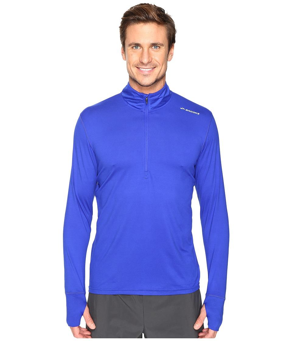 Brooks - Dash 1/2 Zip (Cobalt) Men's Long Sleeve Pullover