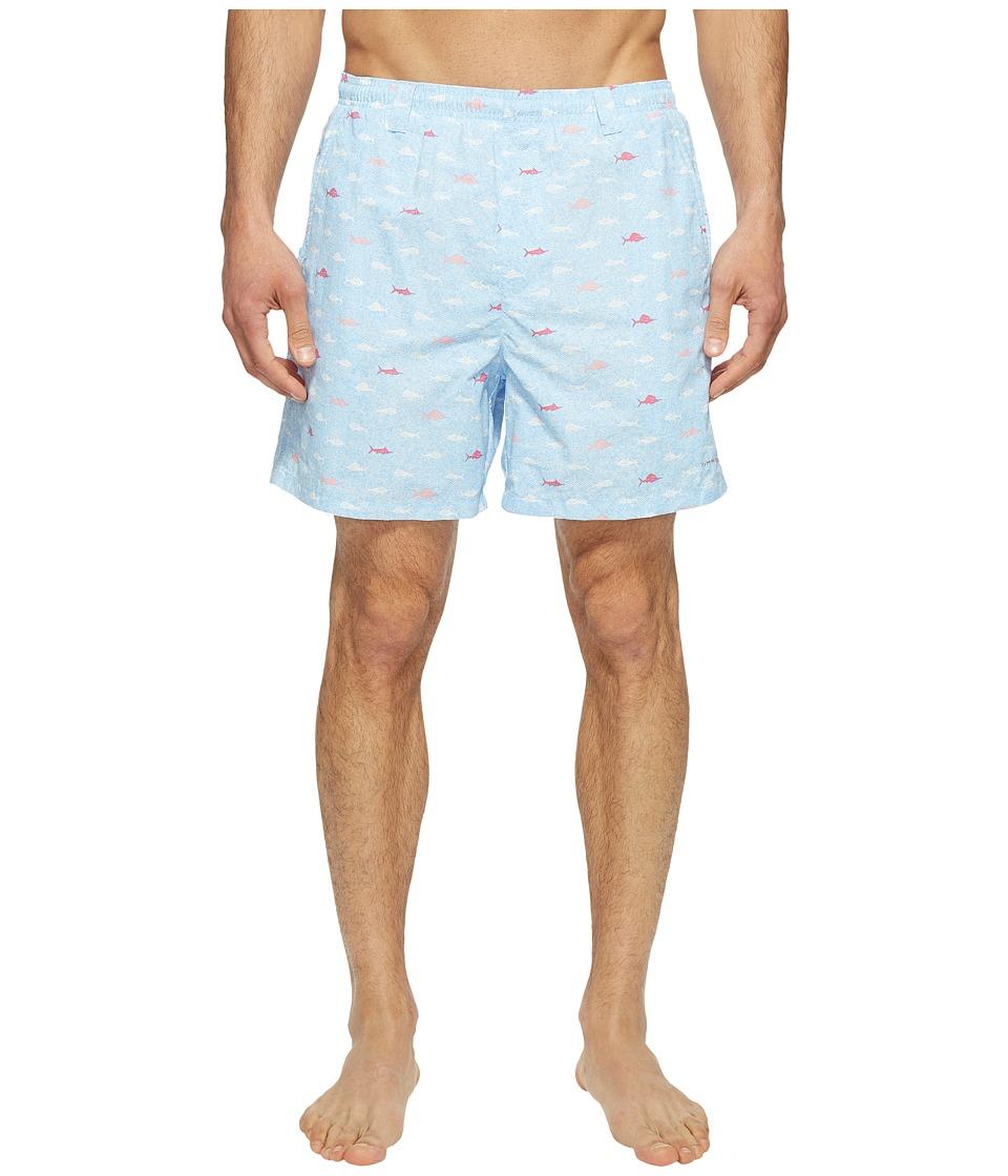 Columbia - Backcast IItm Printed Trunk (Sail Fish School) Men's Shorts