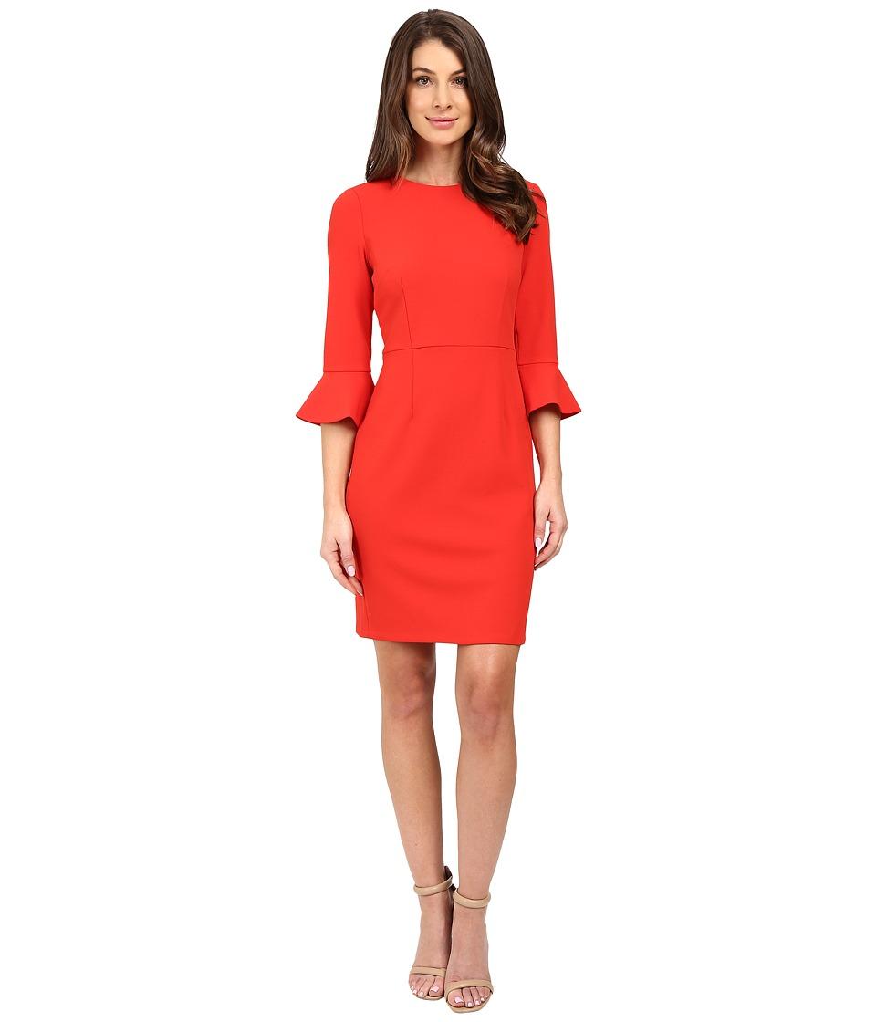 Donna Morgan - 3/4 Bell Sleeve Sheath Dress (Tincture Red) Women's Dress