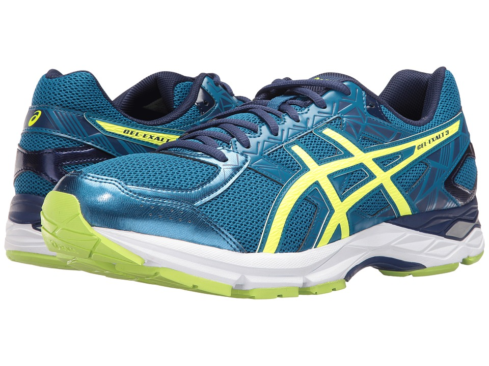 ASICS - Gel-Exalttm 3 (Thunder Blue/Safety Yellow/Indigo Blue) Men's Running Shoes