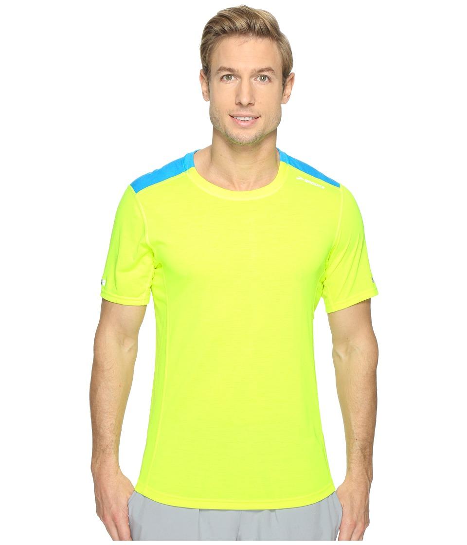 Brooks - Distance Short Sleeve Shirt (Nightlife/Ultra Blue) Men's Short Sleeve Pullover